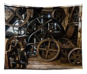 Butte Creek Mill Interior Scene Tapestry