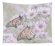 Butterflies And Bee Tapestry