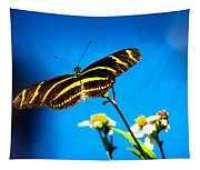 Butterflies And Blue Skies Tapestry