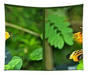 Butterflies Gentle Courtship 4 Panel Composite Tapestry