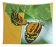 Butterflies Mating Out Of Bounds Tapestry