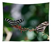 Butterflies On A Wire C Tapestry