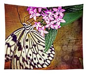 Butterfly Art - Hanging On - By Sharon Cummings Tapestry