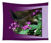 Butterfly Black 16 By 20 Tapestry