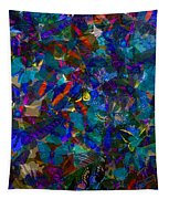 Butterfly Collage Blue Tapestry