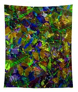 Butterfly Collage Yellow Tapestry
