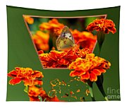 Butterfly In A Sea Of Orange Floral 02 Tapestry