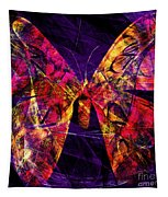 Butterfly In Abstract Dsc2977 Square Tapestry