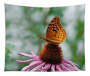 Butterfly On Cornflower Tapestry