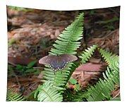 Butterfly On Fern Tapestry