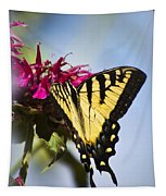 Butterfly Out Of The Blue - Blue Butterfly Art Tapestry