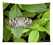 Butterfly Perching On Leaf In A Garden Tapestry