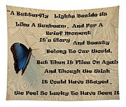 Butterfly Poem Tapestry
