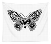 Butterfly With Design Tapestry
