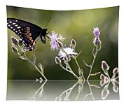 Butterfly With Reflection Tapestry