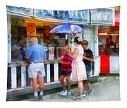 Buying Ice Cream At The Fair Tapestry