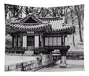 Buyongjeong Pavilion In Secret Garden Tapestry