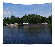 By A Canal Panorama Tapestry