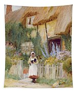 By The Cottage Gate  Tapestry
