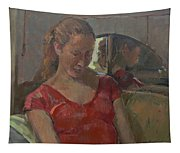 By The Old Mirror, 2009 Oil On Canvas Tapestry