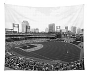 By The Right Field Foul Pole Bw Tapestry