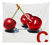 C Art Alphabet For Kids Room Tapestry