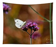 Cabbage White Butterfly In Fall Tapestry