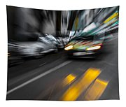 Cabbie Too Fast Tapestry