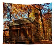 Cabin At The Cove Tapestry