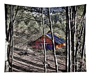 Cabin In The Woods Tapestry