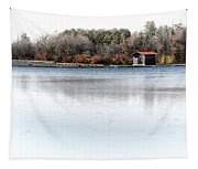 Cabin On A Lake Tapestry
