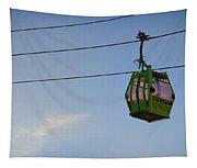 Cable Car In Zaragoza Tapestry