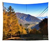 Cableway In Autumn Tapestry