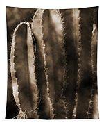 Cactus Sepia Tone Panama Tapestry