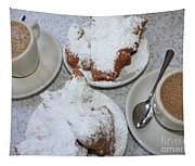 Cafe Au Lait And Beignets Tapestry