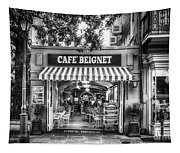 Cafe Beignet Morning Nola - Bw Tapestry