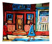 Cafe Laurier Montreal Tapestry