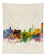 Calcutta India Skyline Tapestry by Michael Tompsett