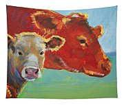 Calf And Cow Painting Tapestry