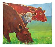 Calf And Cows Painting Tapestry