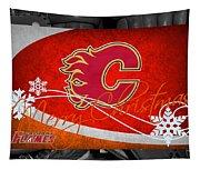 Calgary Flames Christmas Tapestry