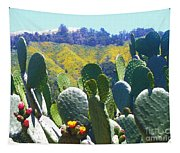 California Big Sur Flowers Tapestry