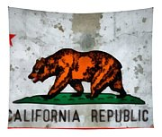 California State Flag Weathered And Worn Tapestry