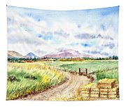 Californian Landscape Saint Johns Ranch Of Mountain Shasta County Tapestry