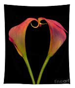 Calla Lillies Kissing Tapestry