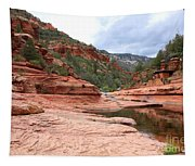 Calm Day At Slide Rock Tapestry