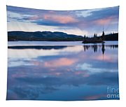 Calm Twin Lakes At Sunset Yukon Territory Canada Tapestry