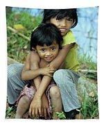 Cambodian Children 02 Tapestry