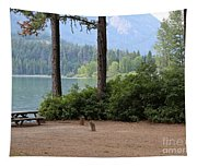 Camp By The Lake Tapestry