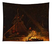 Camp Fire Tapestry